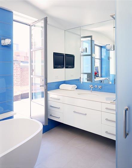 蓝白色装修设计图片