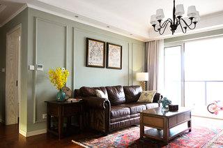 140平美式风格三室两厅室内装修