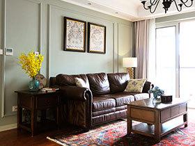 140平美式风格三室两厅装修 正气古典美居