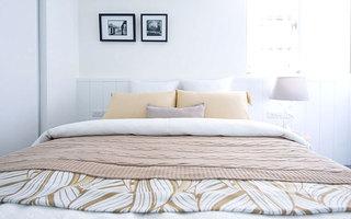76平小三室装修卧室床品陈列图片