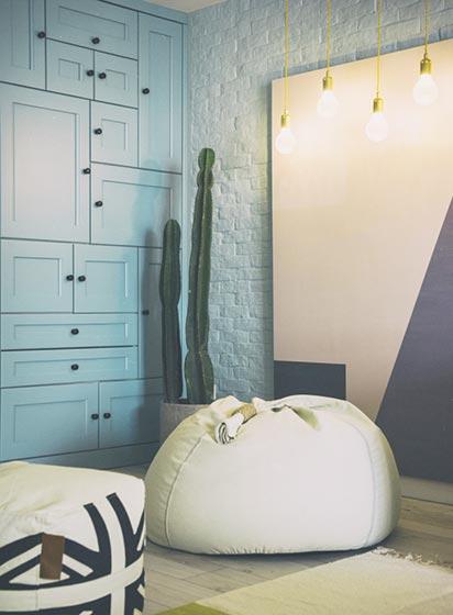 客厅懒人沙发设计布置图