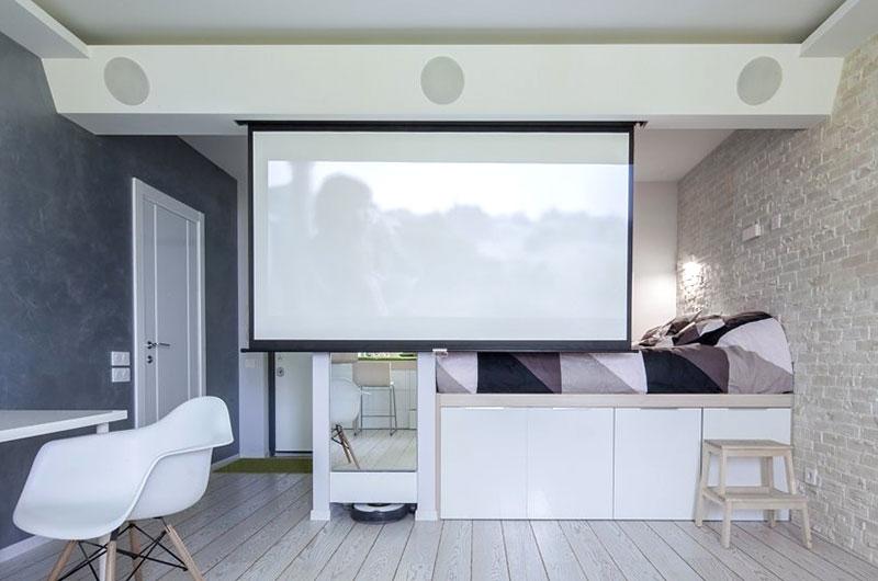 42平一居室装修投影仪效果图