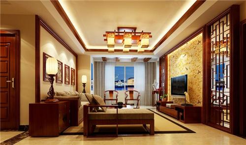 中式客厅装修效果图 中式客厅大气沉稳的休闲空间