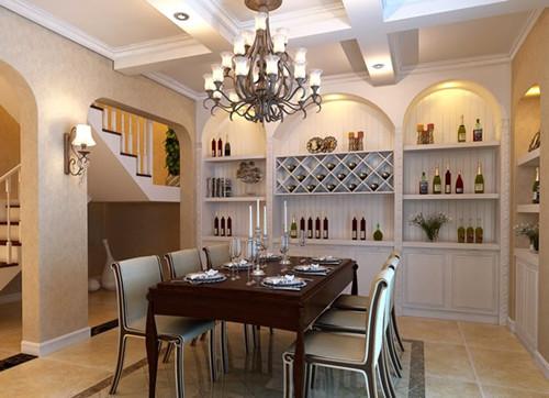 这款实木酒柜,摆放在餐厅看上去非常的大气,对于酒柜的设计要根据