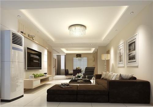 客厅简单吊顶效果图 5款较实用的简约风吊顶