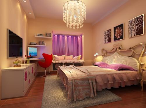 女童卧室装修效果图 8平米打造温馨浪漫小窝