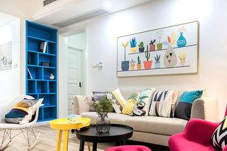 95平三居室装修客厅效果图