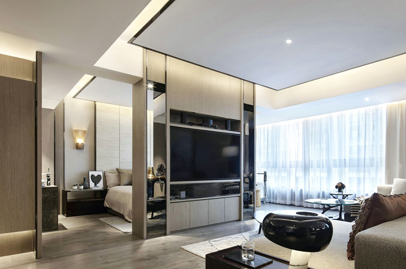 118平一室一厅装修客厅电视柜