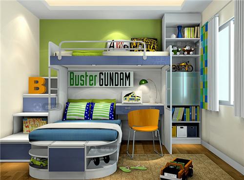 儿童房上下床装修效果图 超高人气的儿童房上下床案例图片