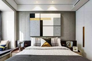 简约风格公寓装修卧室床头软包