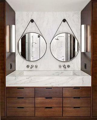 卫生间大理石洗手台装修图片
