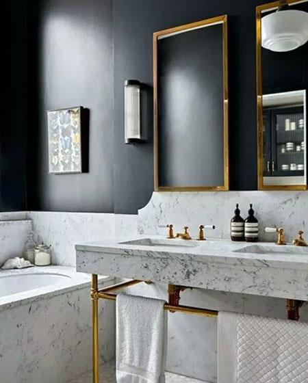 卫生间大理石洗手台装修图