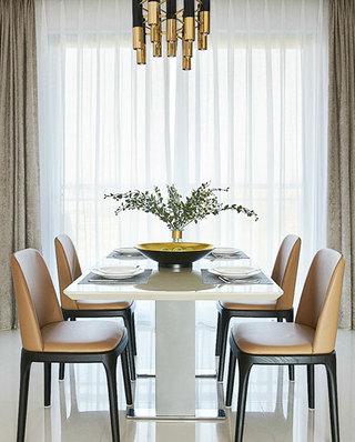 210平简约公寓装修餐厅效果图设计
