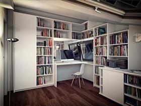 家庭的神奇之处  10个北欧风家庭书房图片