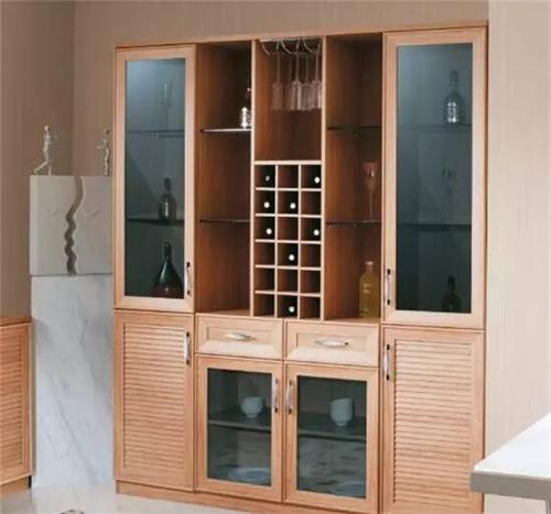 木纹酒柜效果图