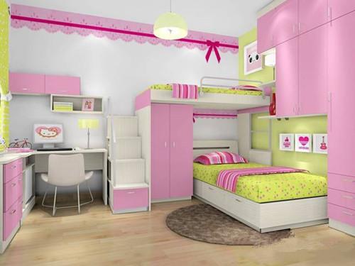 公主儿童房装修效果图 萌萌哒的韩国公主房装修