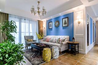 93平美式风格三居室装修效果图