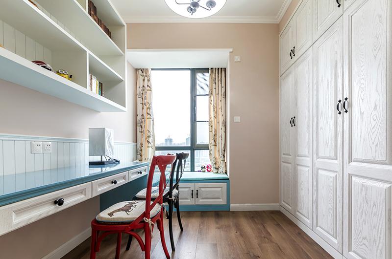 93平美式三居室书房效果图装修