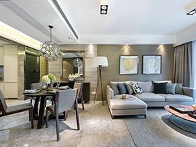 现代简约风格三居室样板房装修 明媚新生
