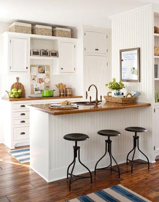 美式风格厨房吧台设计效果图