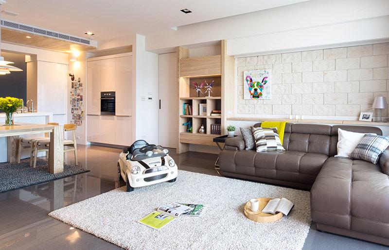 125平北欧风格三室两厅效果图