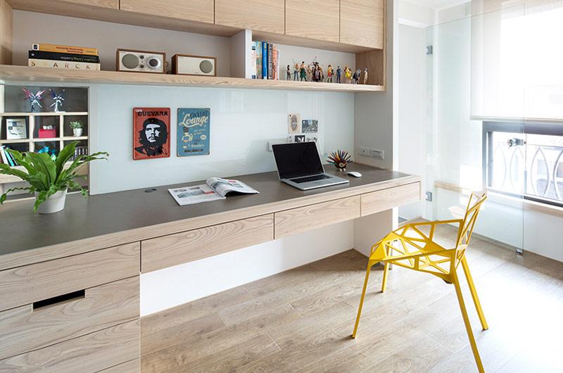 125平北欧三居室书房效果图装修图片