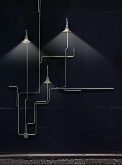 水管壁灯设计参考图