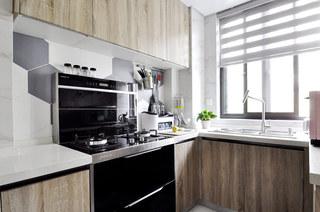 89平简约小三居厨房装修实景图