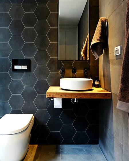 木质卫生间洗手台装修