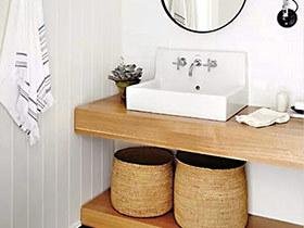 11个木质洗手台装修效果图 原木更清新