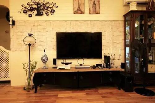 用瓷砖做电视背景墙效果图欣赏 装修必看