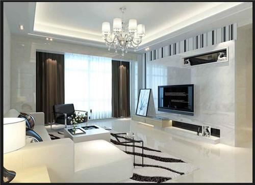 加上背景墙上的光源,让整个客厅空间更具格调.