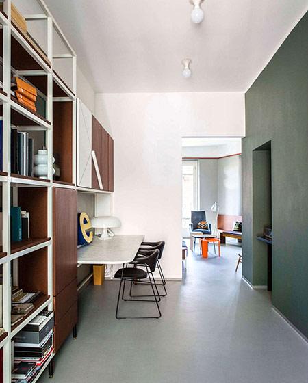 90平小公寓装修开放式书房装修