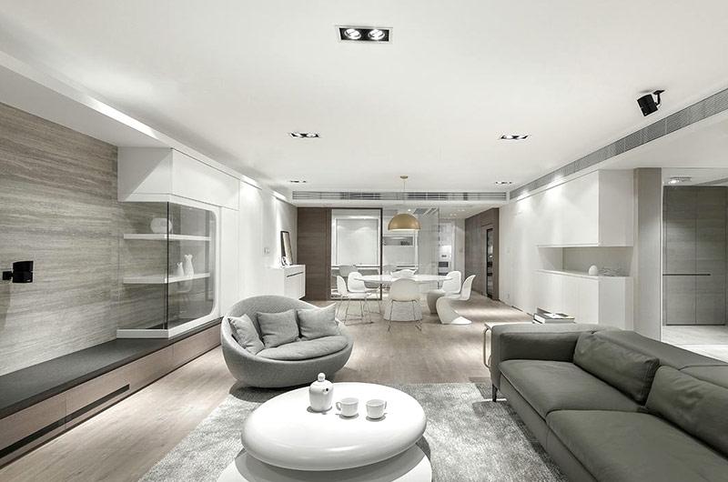 现代简约风格四房两厅装修效果图