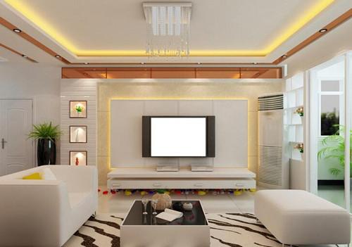 案例 按空间查看 正文  这款乳胶漆电视背景墙有地中海风情,客厅墙壁