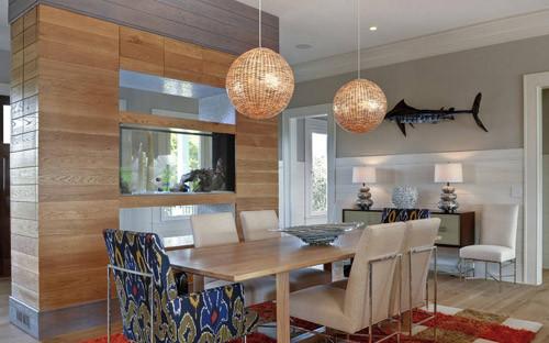 客厅鱼缸隔断效果图 居家好风水设计案例
