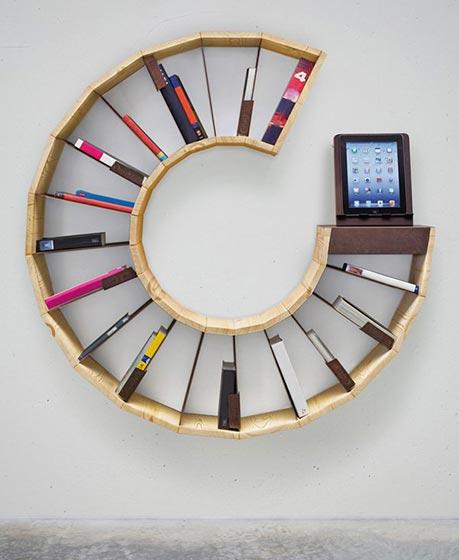 圆形书架设计平面图