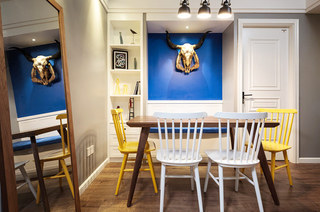 88平北欧风格二居餐厅背景墙设计