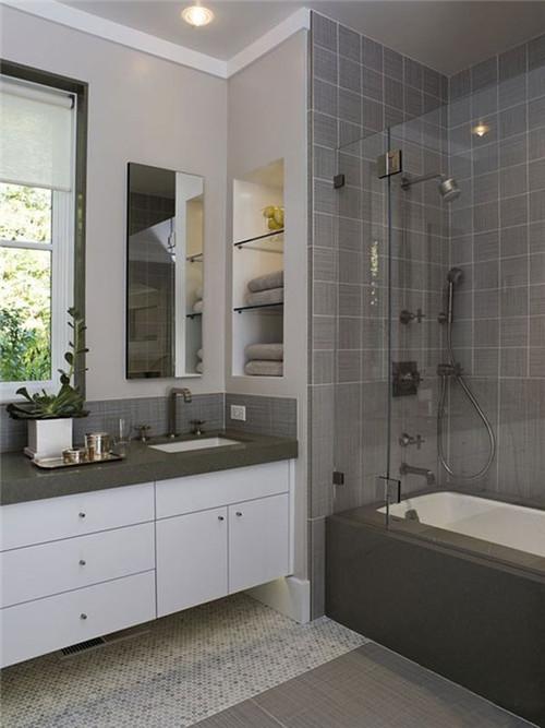 卫生间装修效果图 打造惬意悠闲浴缸设计