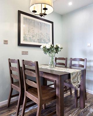 120平美式三居装修餐厅装修效果