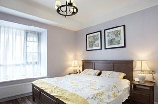 120平美式三居装修美式卧室效果图