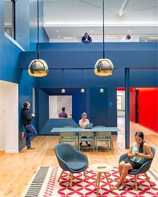 loft装修办公室效果图