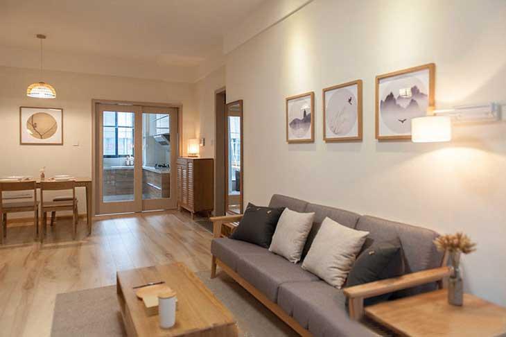 90平两居室装修日式客厅