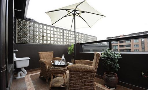 露天阳台装修效果图 肆意享受美好时光