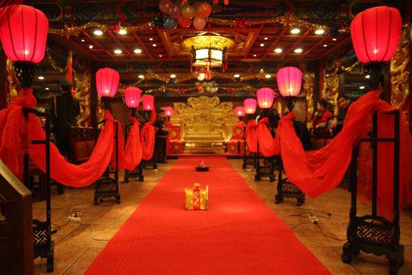 中式婚礼布置效果图 中式婚礼如何布置_婚宴筹备_婚庆图片