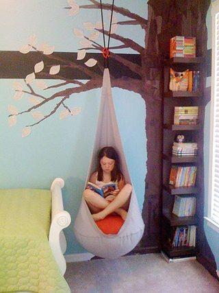 卧室吊椅布置欣赏图