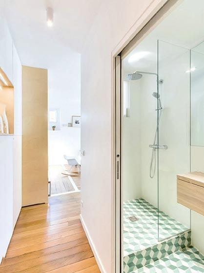 宜家风格卧室带浴室设计图片