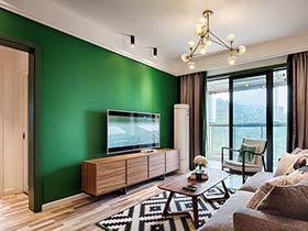 70平混搭北欧风格两室两厅装修 清新森系家