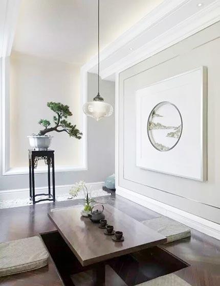 白色系客厅榻榻米图