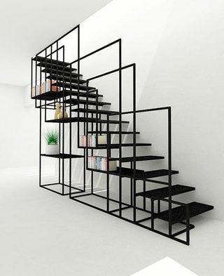 到底能装多少呢  10个楼梯间收纳设计图片1/10